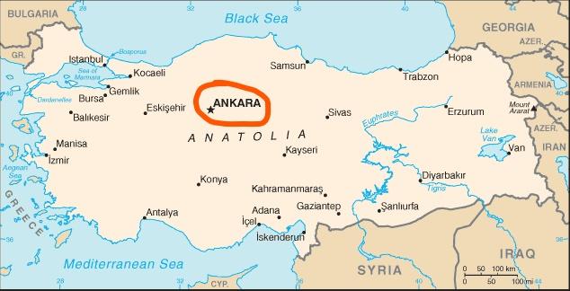 Inked Turkey Map